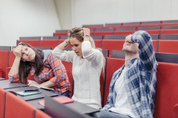 university students at lecture hall