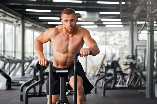 man working out gym