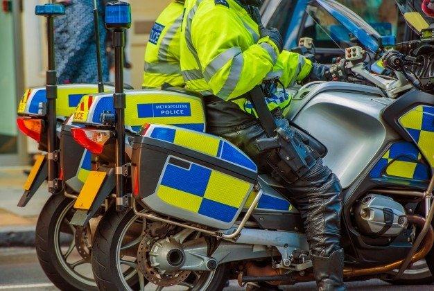 london police on a bike