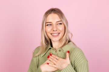 woman gratitude concept