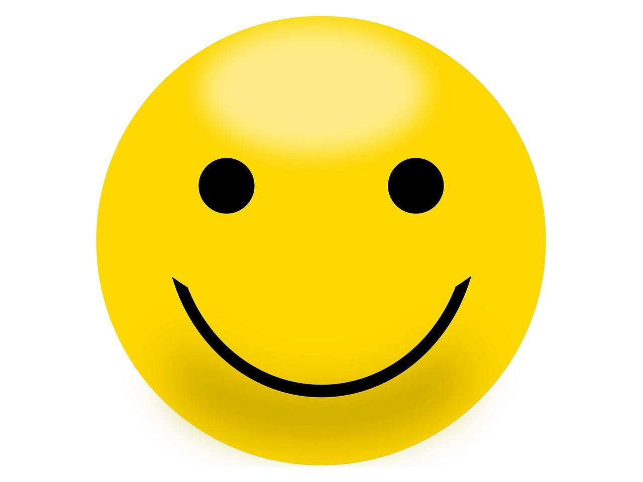 Smiley face to reduce your stress