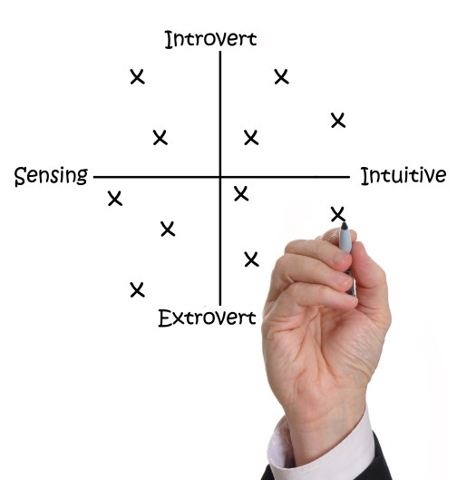 Chart illustrating the intersection of Extraversion and Introversion
