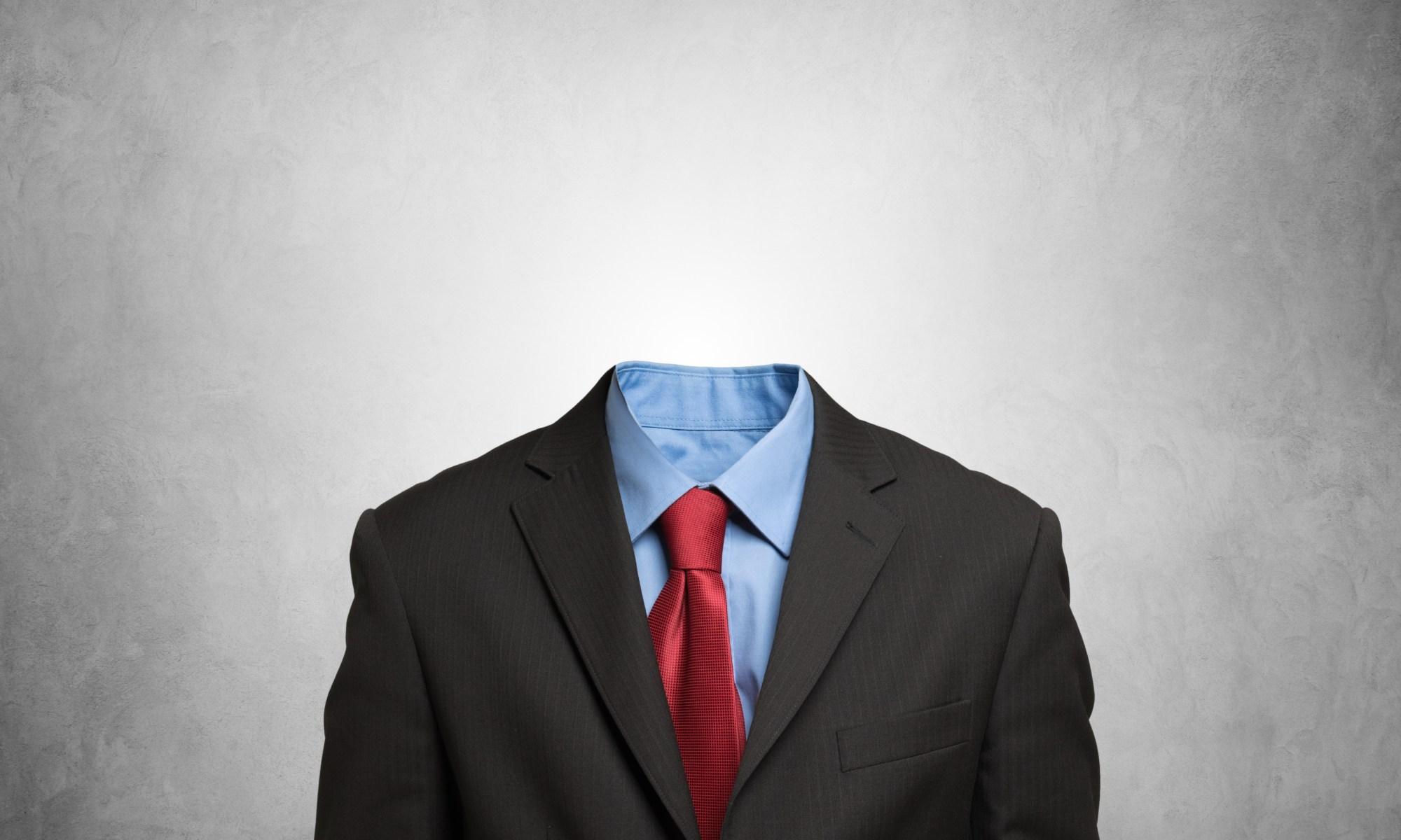 An empty suit