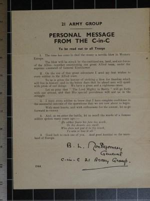 Mensaje de BL Montgomery