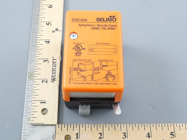 zone120ncbelimo zone120nc zone valve actuator 120v n/c