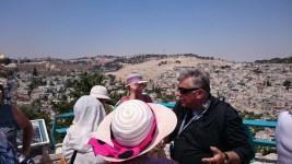 Widok naJerozolimę zgóry kościoła In Galikantu