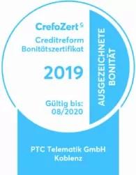 Crefo-Zertifikat Siegel