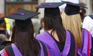 ladies in graduation ceremony