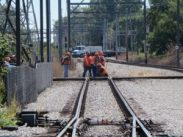doing an engineering work in a railway