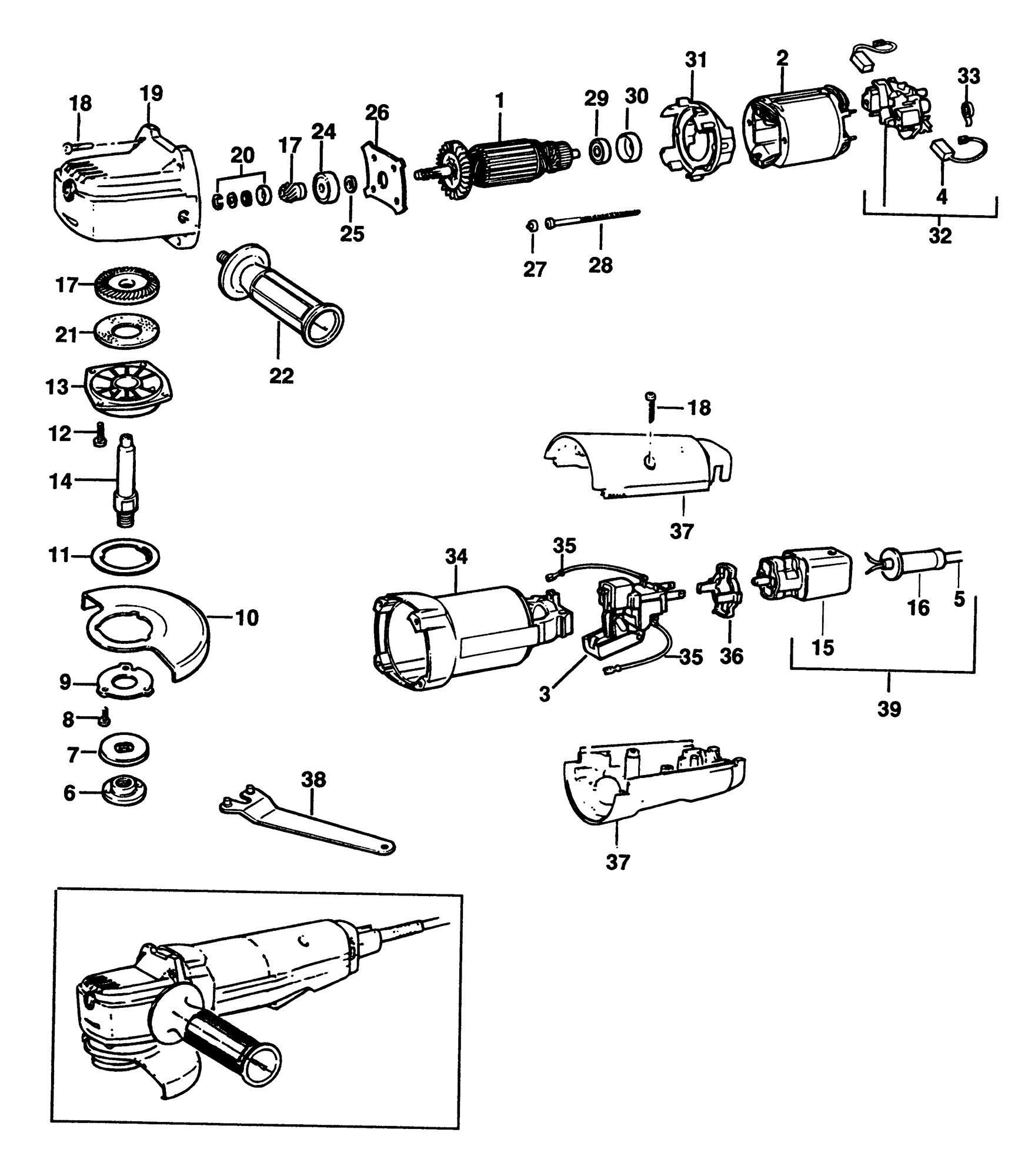 Spares For Black Amp Decker Pl80 Sander Grinder Type 2