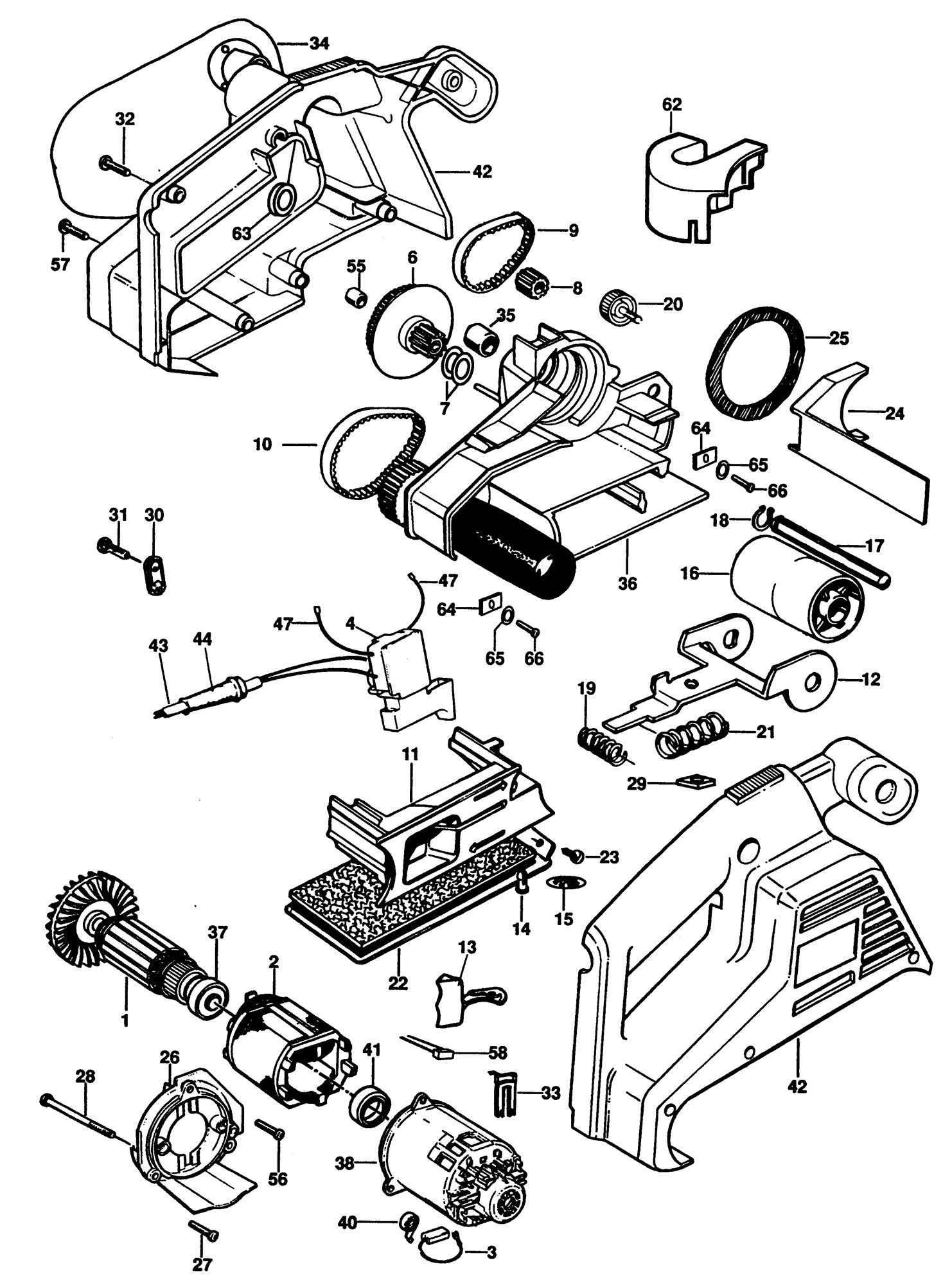 Spares For Black Amp Decker Bd75 Belt Sander Type 1 Spare
