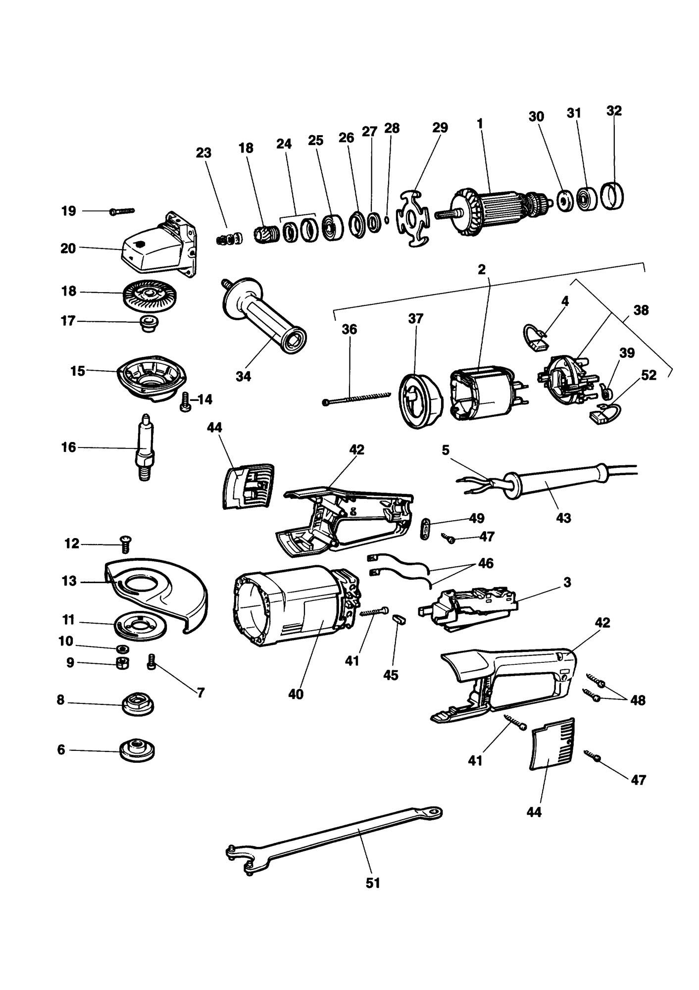 Spares For Black Amp Decker Kg B Angle Grinder Type