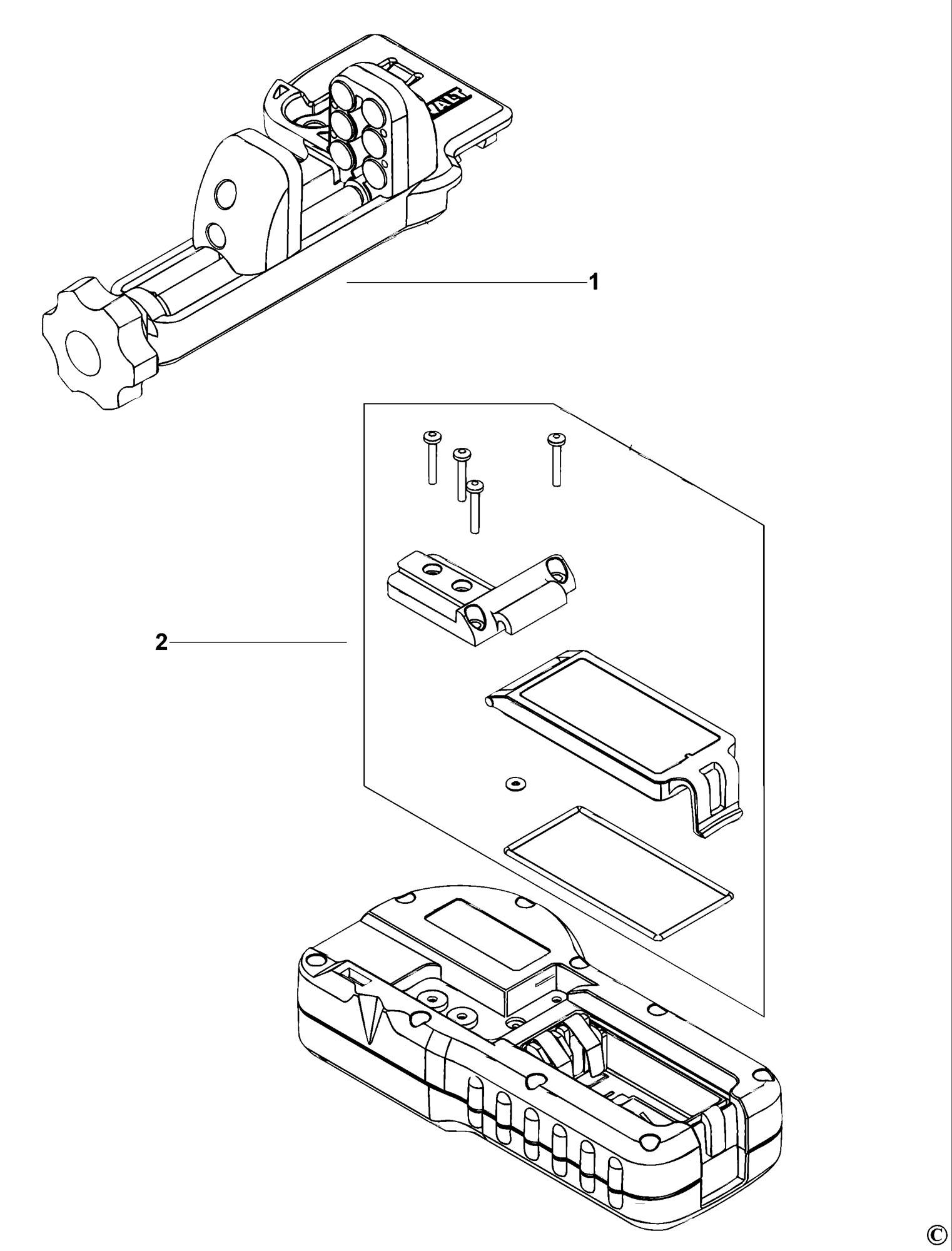 Spares For Dewalt De Digital Laser Detector Type 1