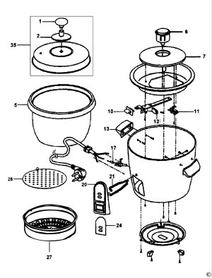 Spares for Black & Decker Rc32 Rice Cooker (type 1) SPARE