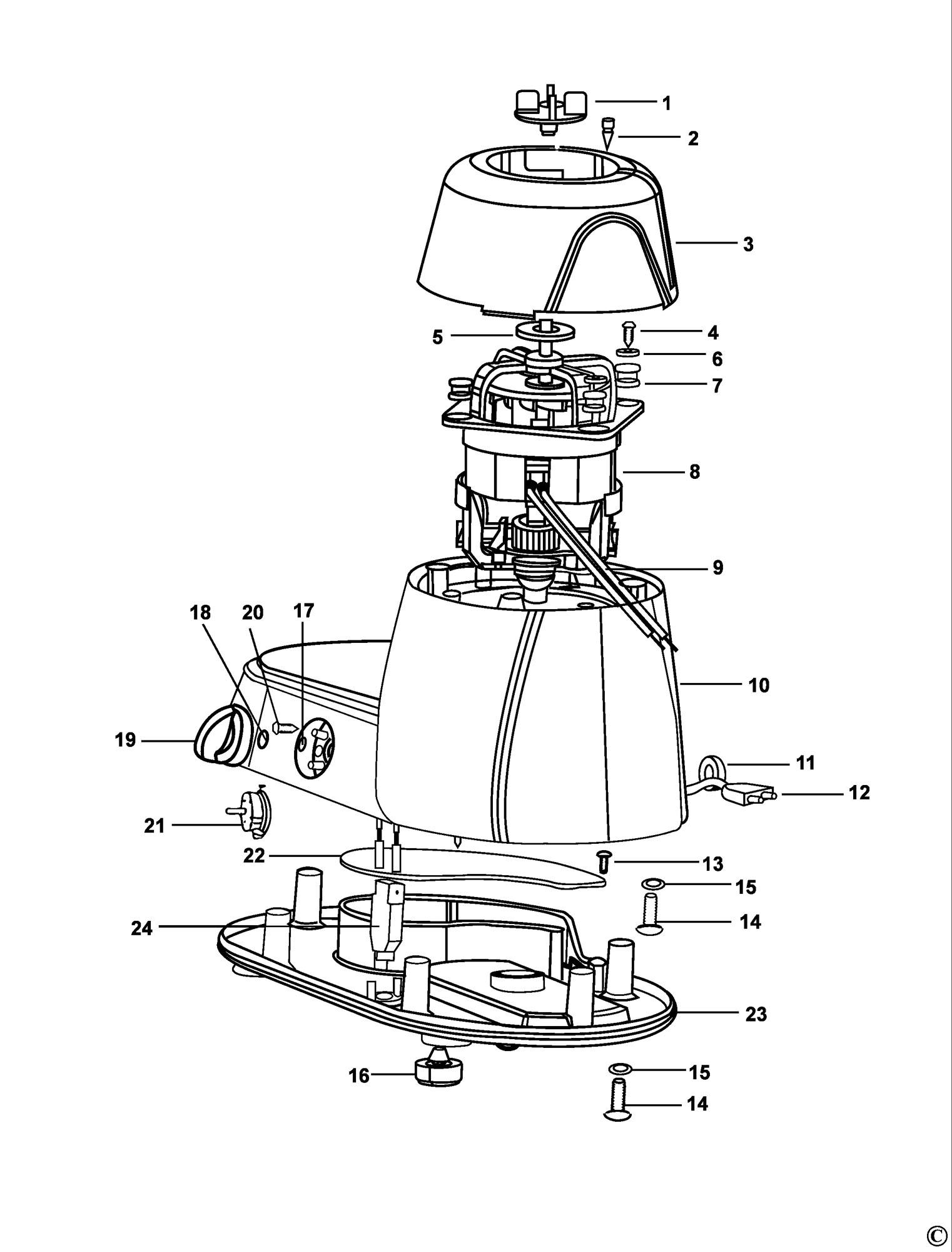 Spares For Black Amp Decker Fg550 Mixer Grinder Type 1