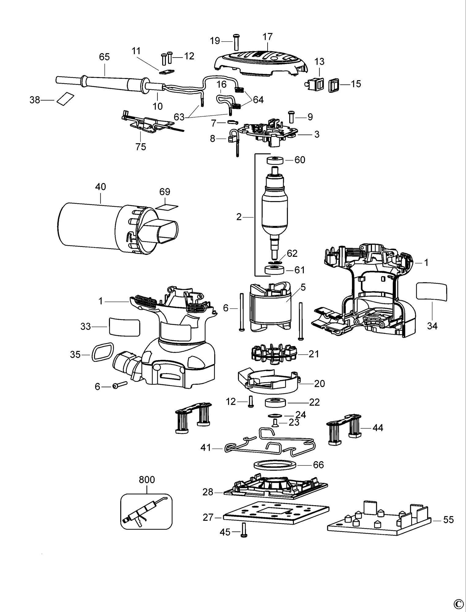 Spares For Dewalt D Palm Grip Sander Type 1 Spare