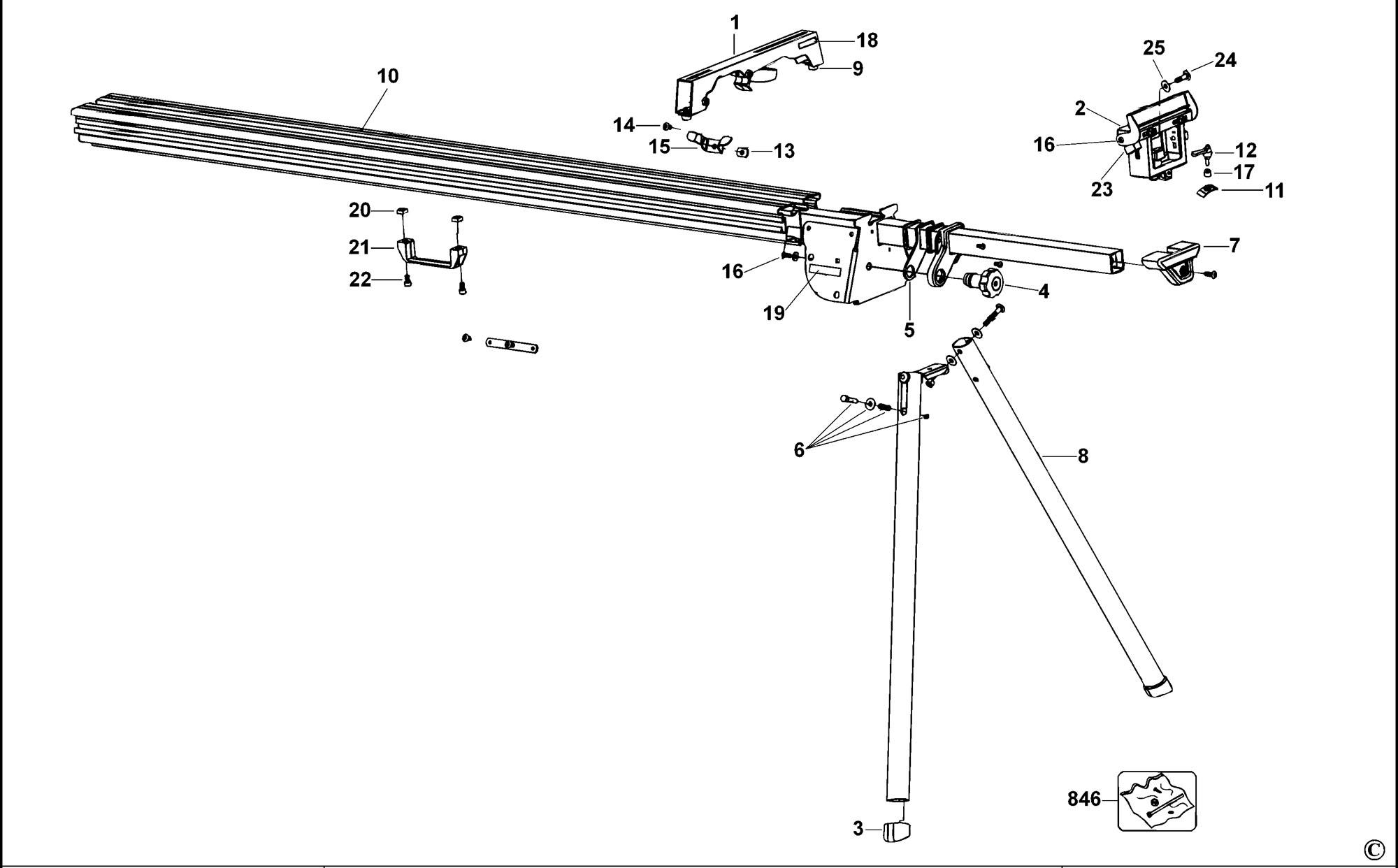 Spares For Dewalt Dw723 Leg Stand Type 1 Spare Dw723
