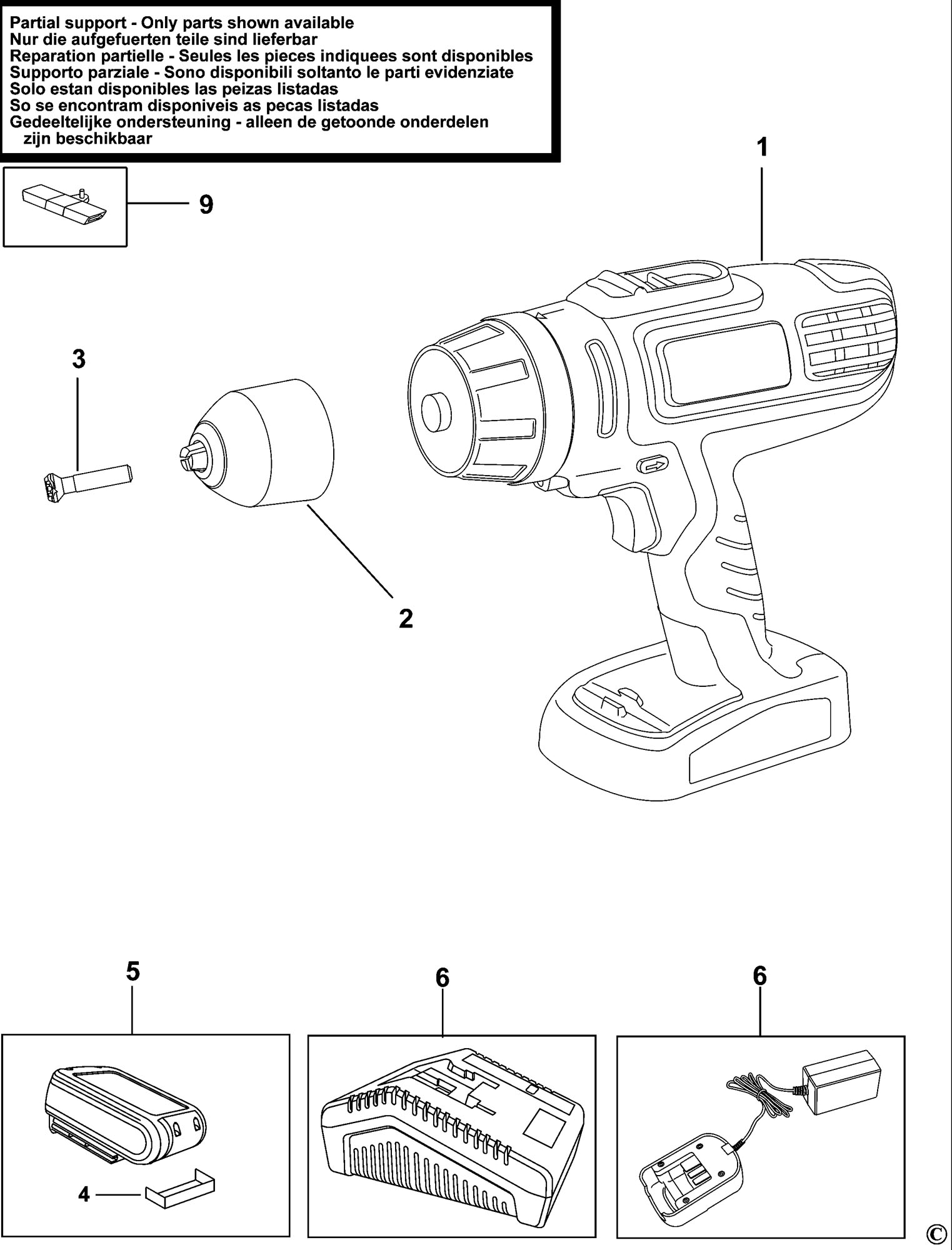 Spares For Black Amp Decker Hp188f4lbk Cordless Drill Type H2 Spare Hp188f4lbk Type H2 From