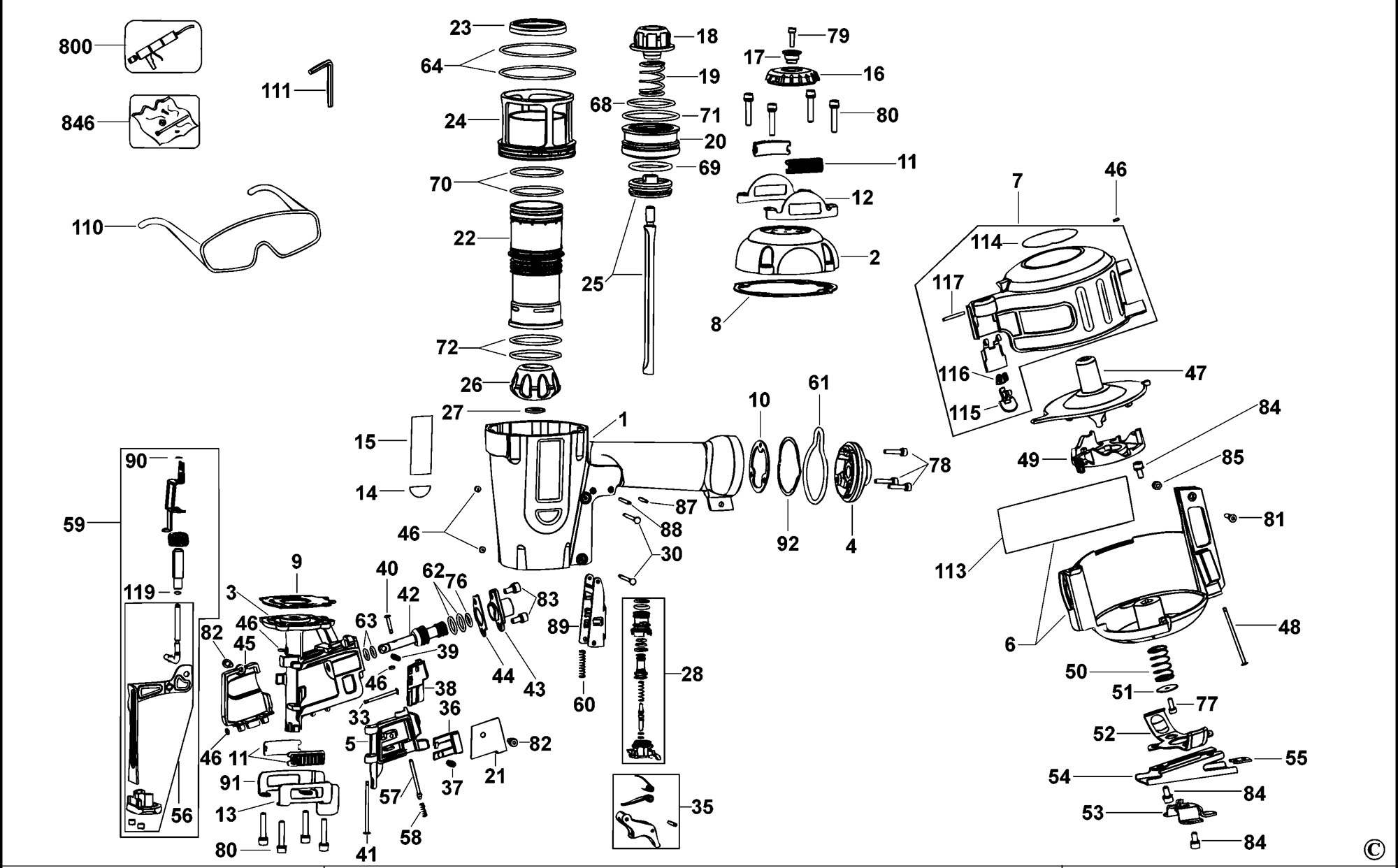 Spares For Dewalt D Nailer Type 2 Spare D Type