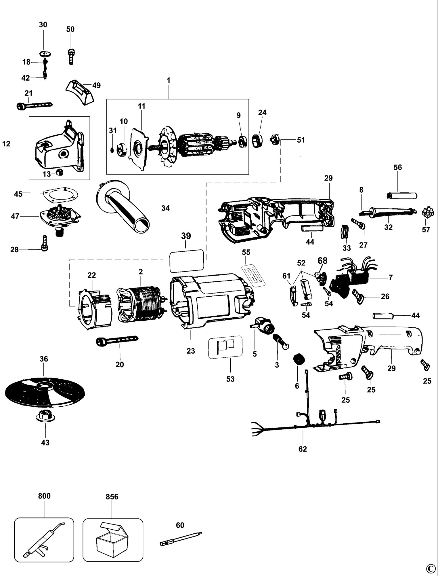Spares For Dewalt Dw849 Sander Polisher Type 3 Spare Dw849 Type 3 From Power Tool Centre