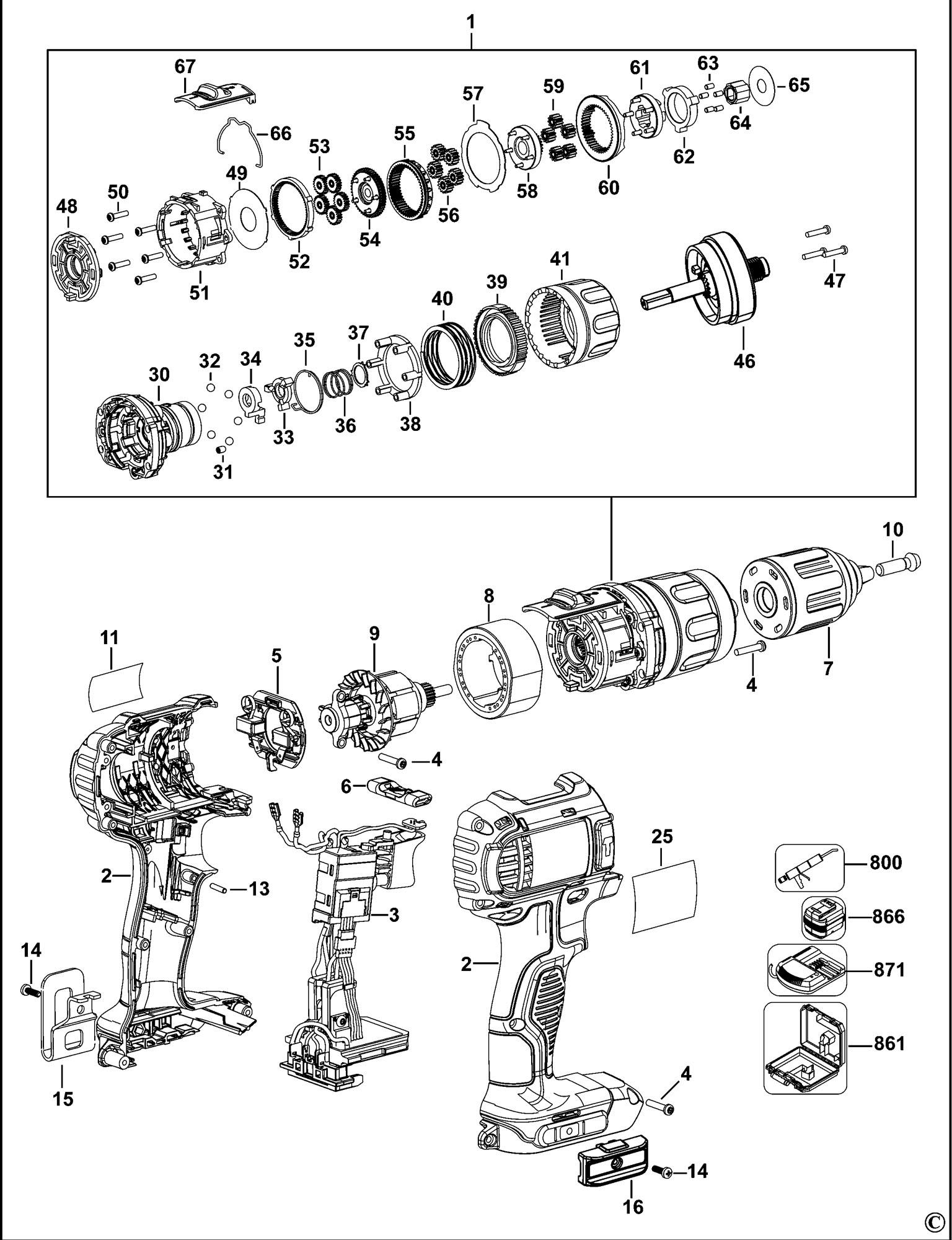 Dewalt Drill Diagram