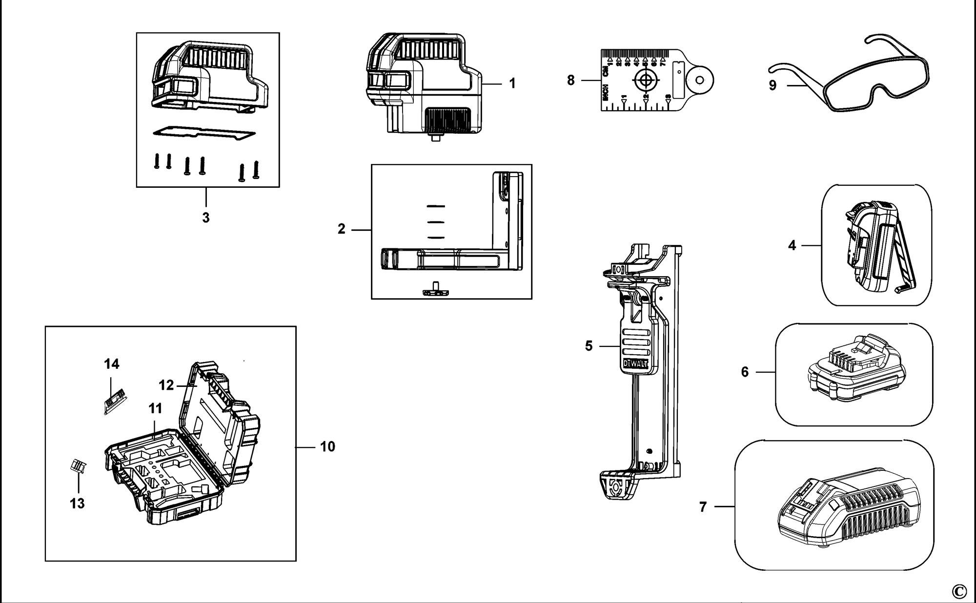 Spares For Dewalt Dce R Crossline Laser Type 1 Spare