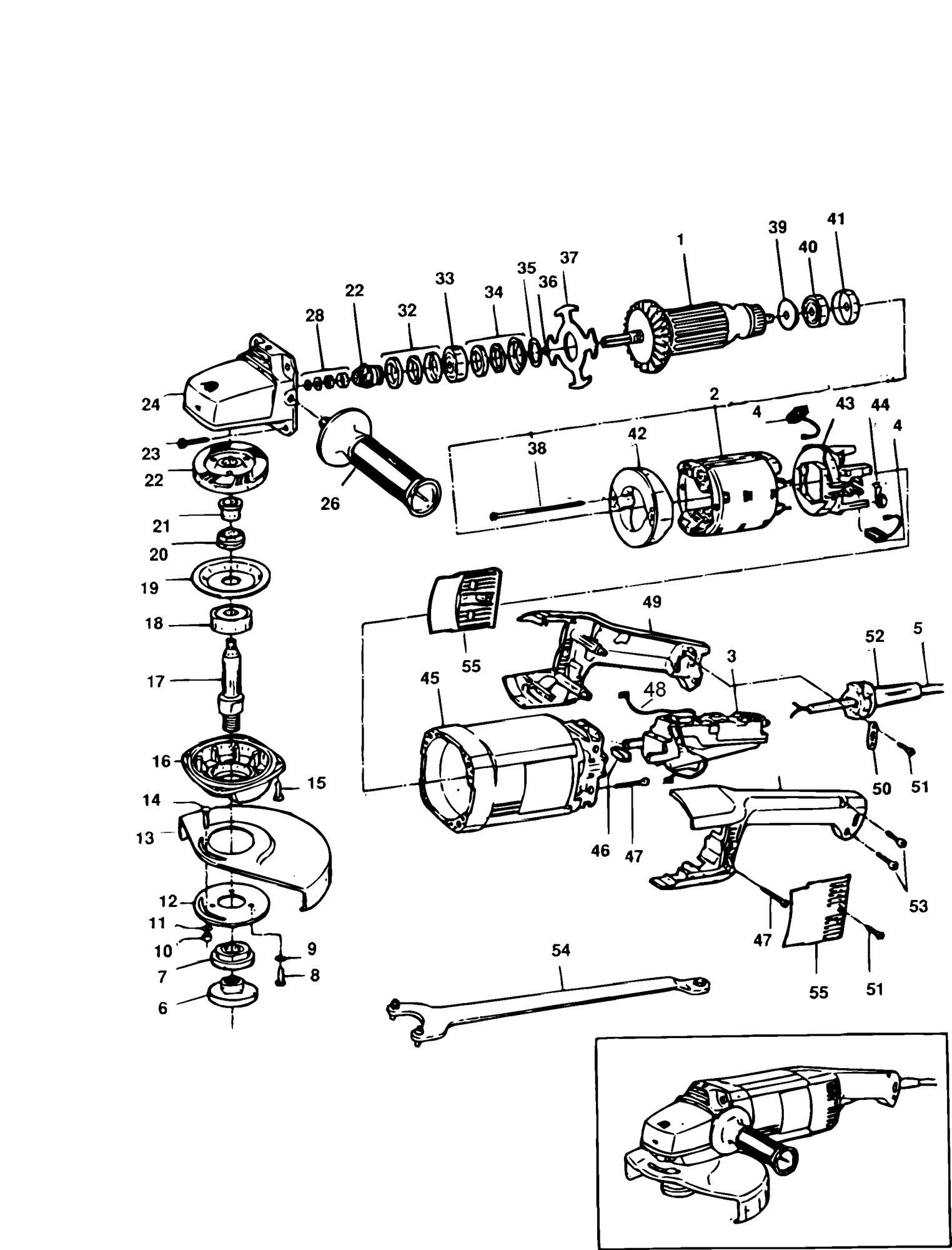 Spares For Black Amp Decker Pl85 Grinder Type 2 Spare Pl85