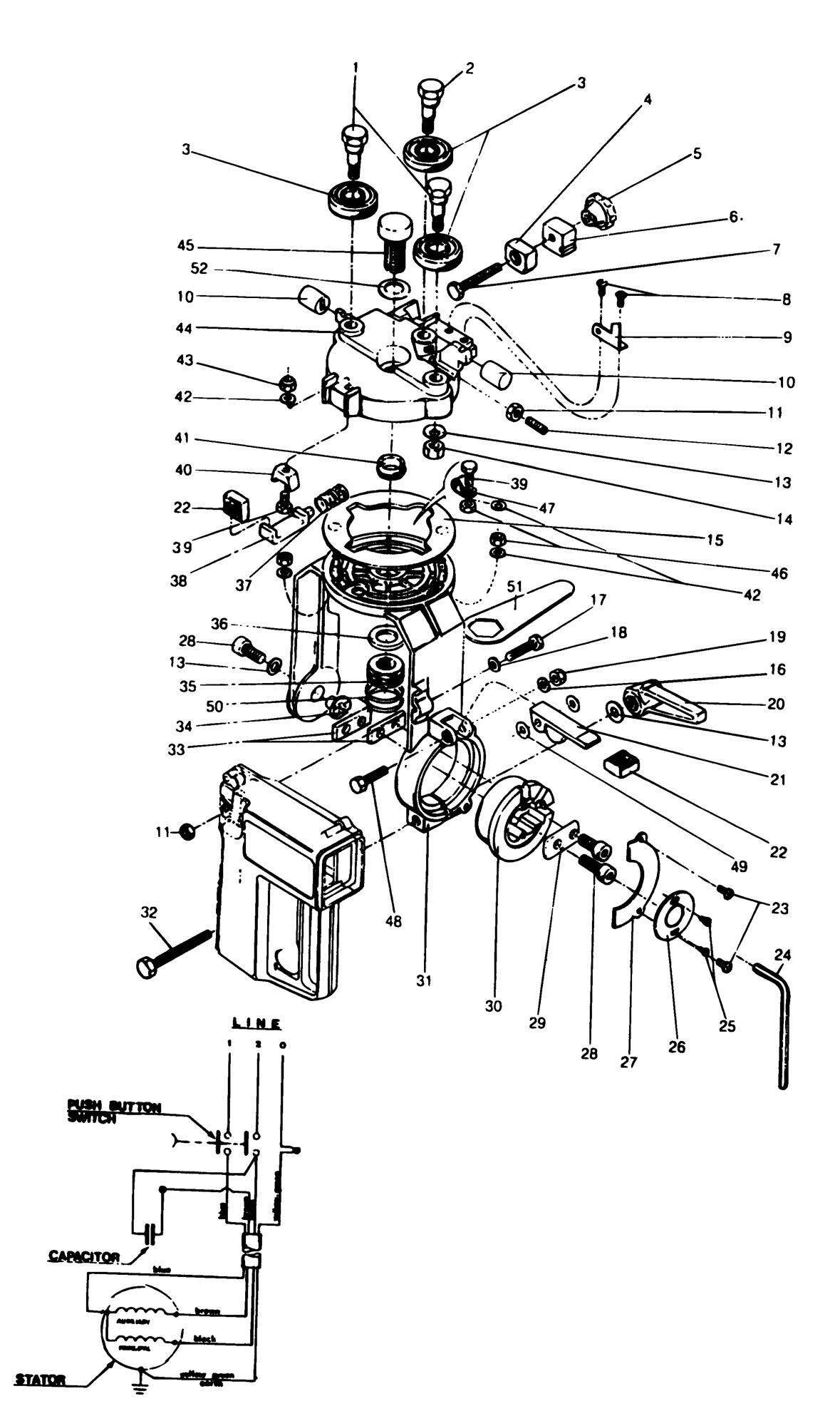 Spares For Dewalt Dn890 C Radial Arm Saw Type 1