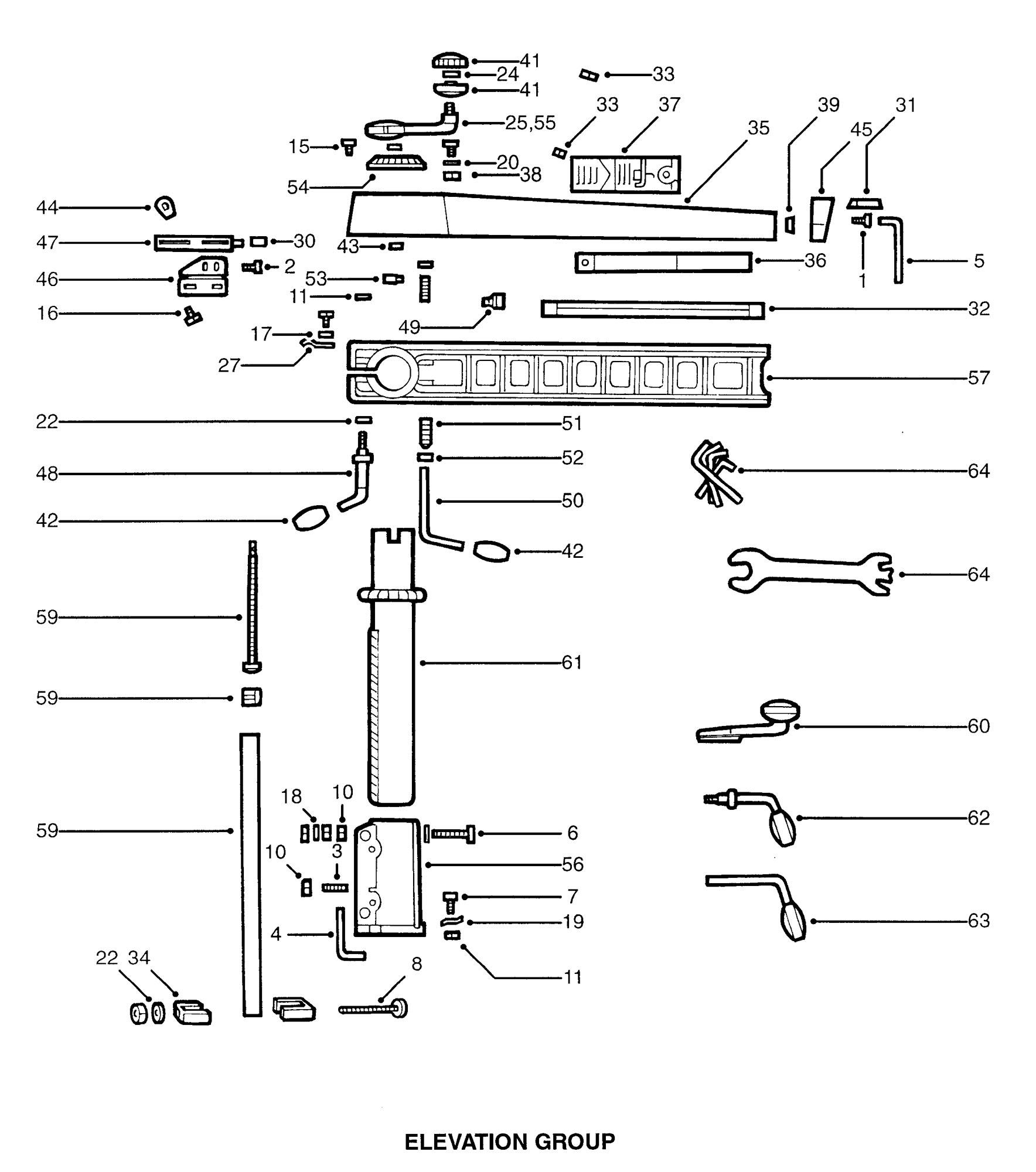 Spares For Dewalt Dw125 A Radial Arm Saw Type 1