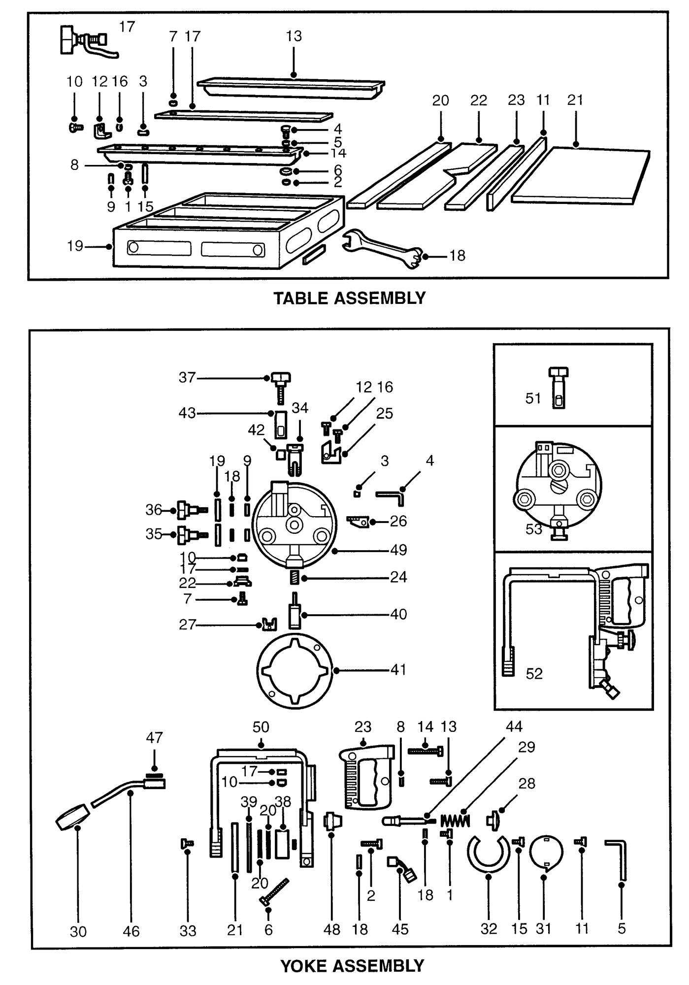Spares For Dewalt Dw125 B Radial Arm Saw Type 1