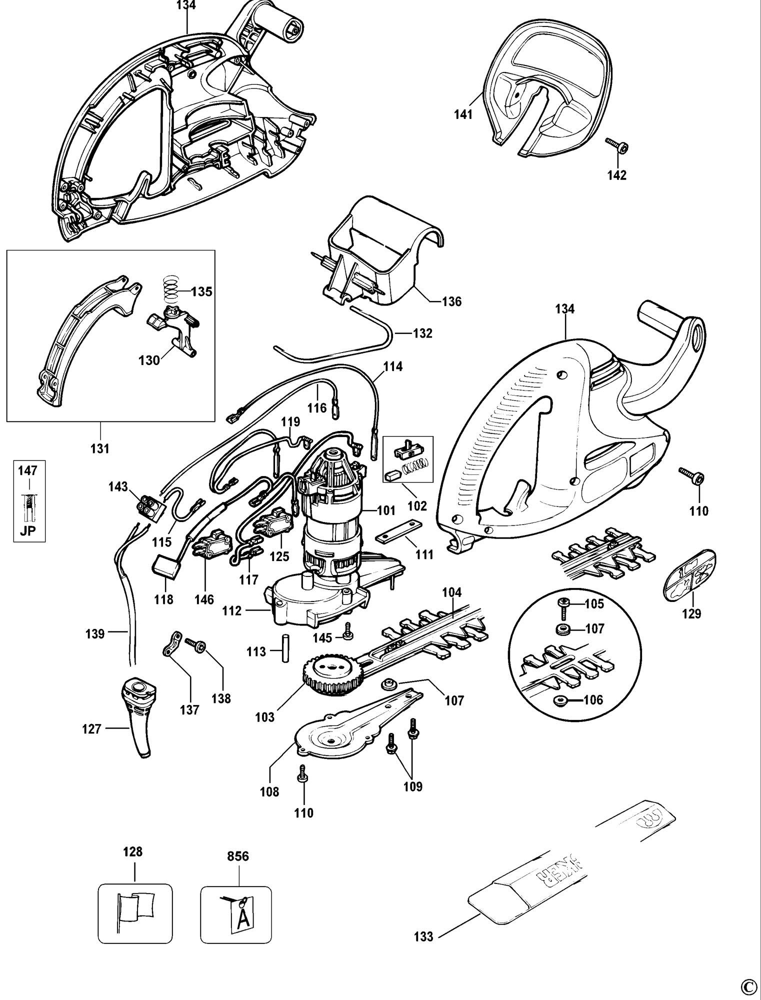 Spares For Black Amp Decker Gt350 Hedgetrimmer Type 4