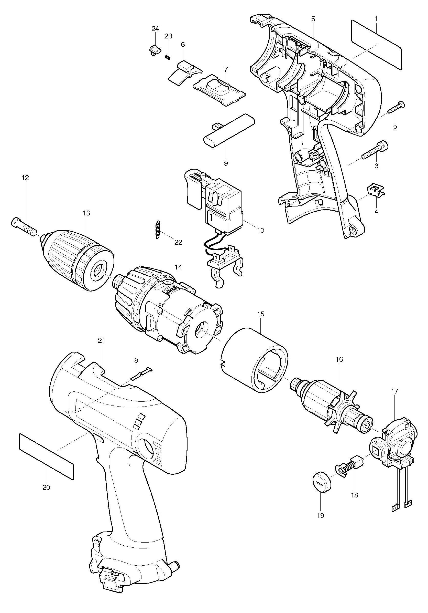 Spares For Makita D Drill Driver Spare D From
