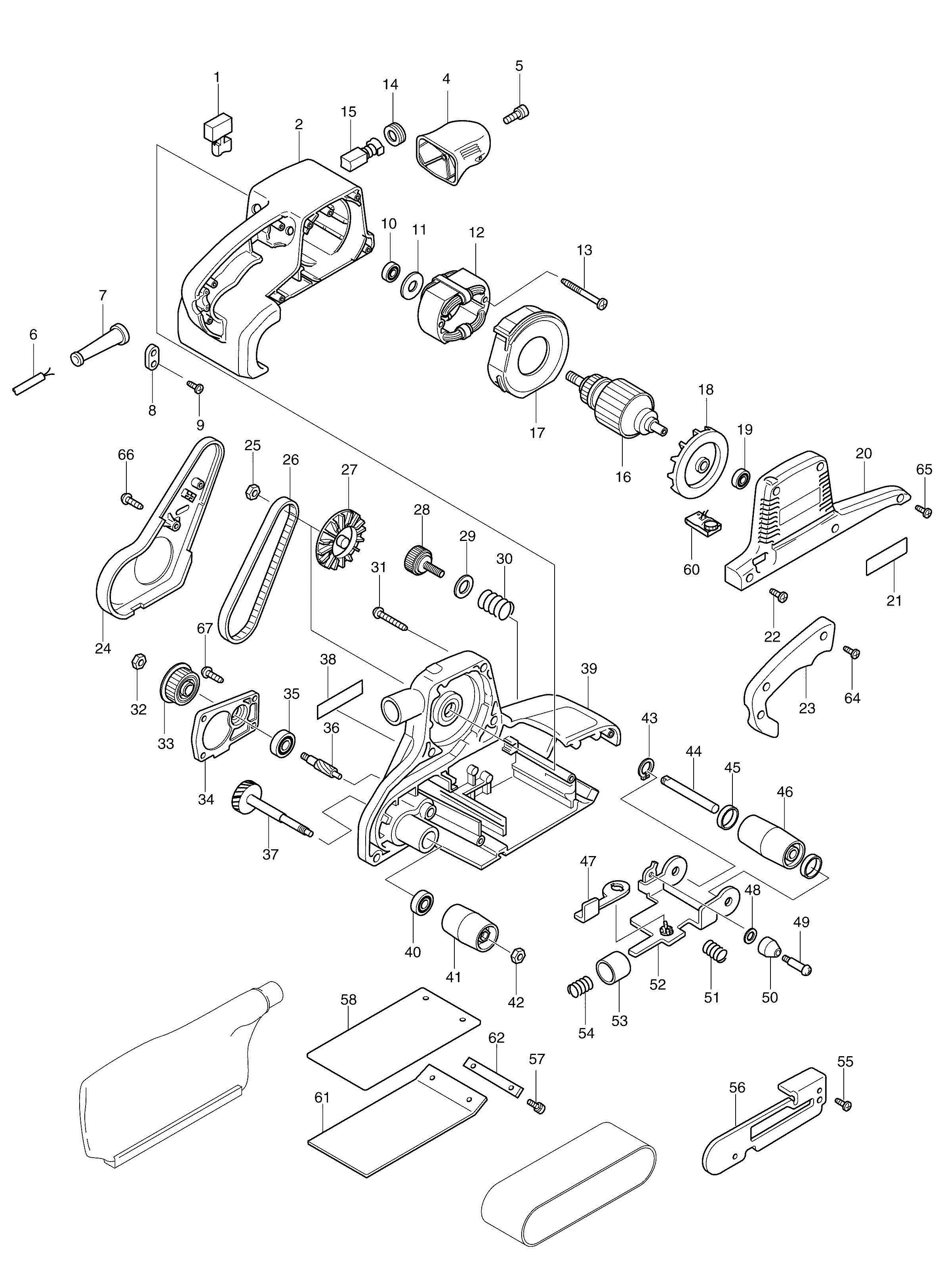 Spares For Makita Belt Sander 100x610mm Spare