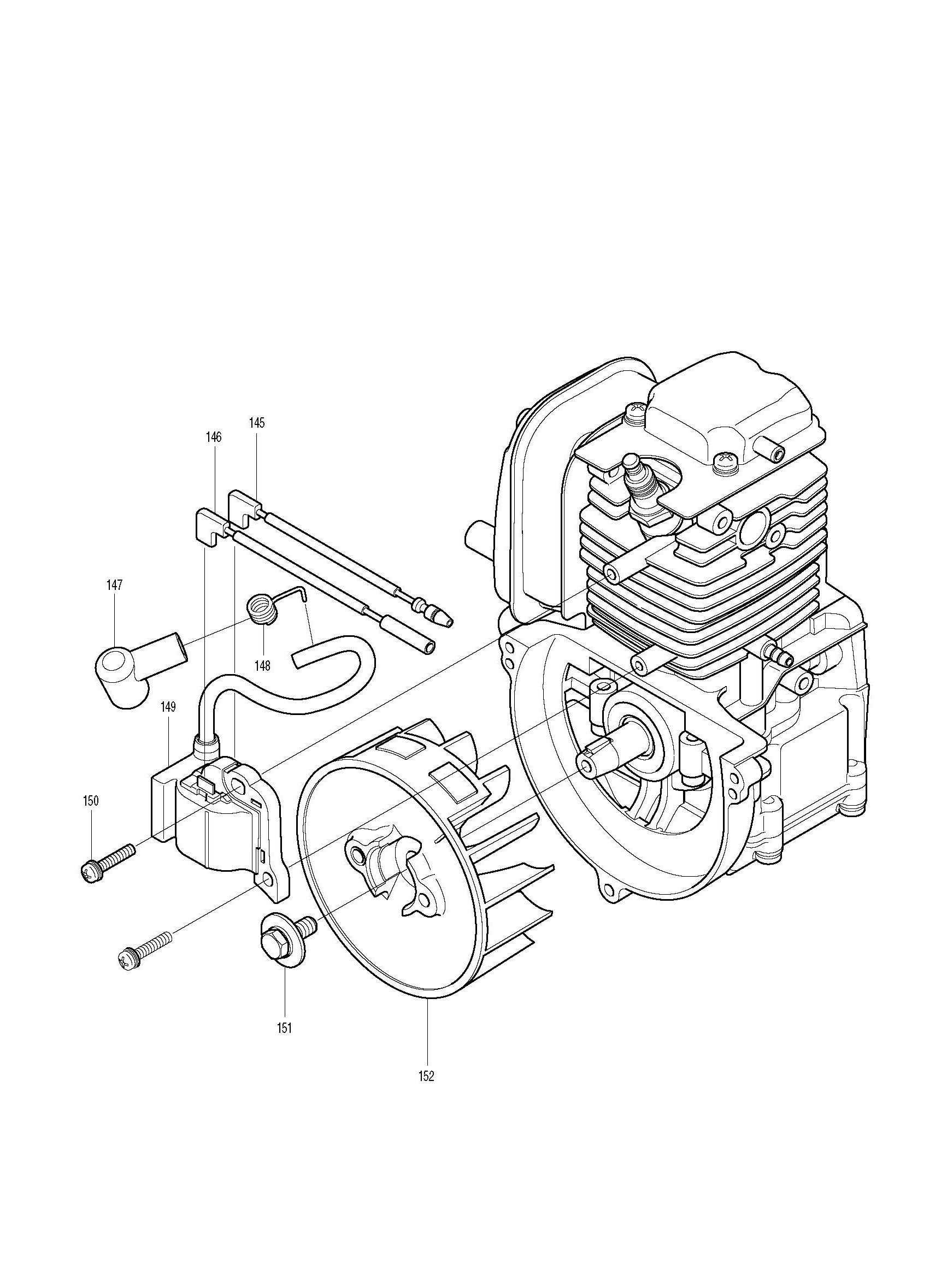 Spares For Makita Bhx 4 Stroke Petrol Blower Spare