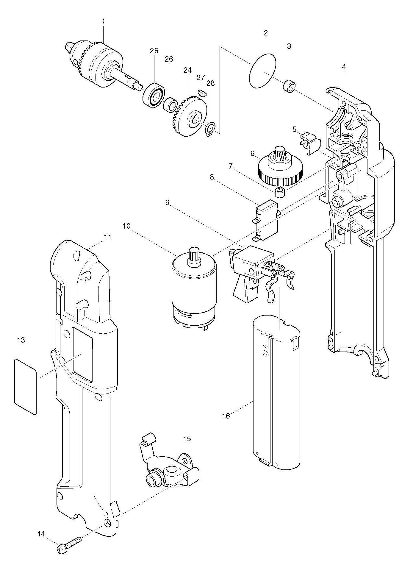 Spares For Makita Da D Angle Drill Spare Da D From Power Tool Centre
