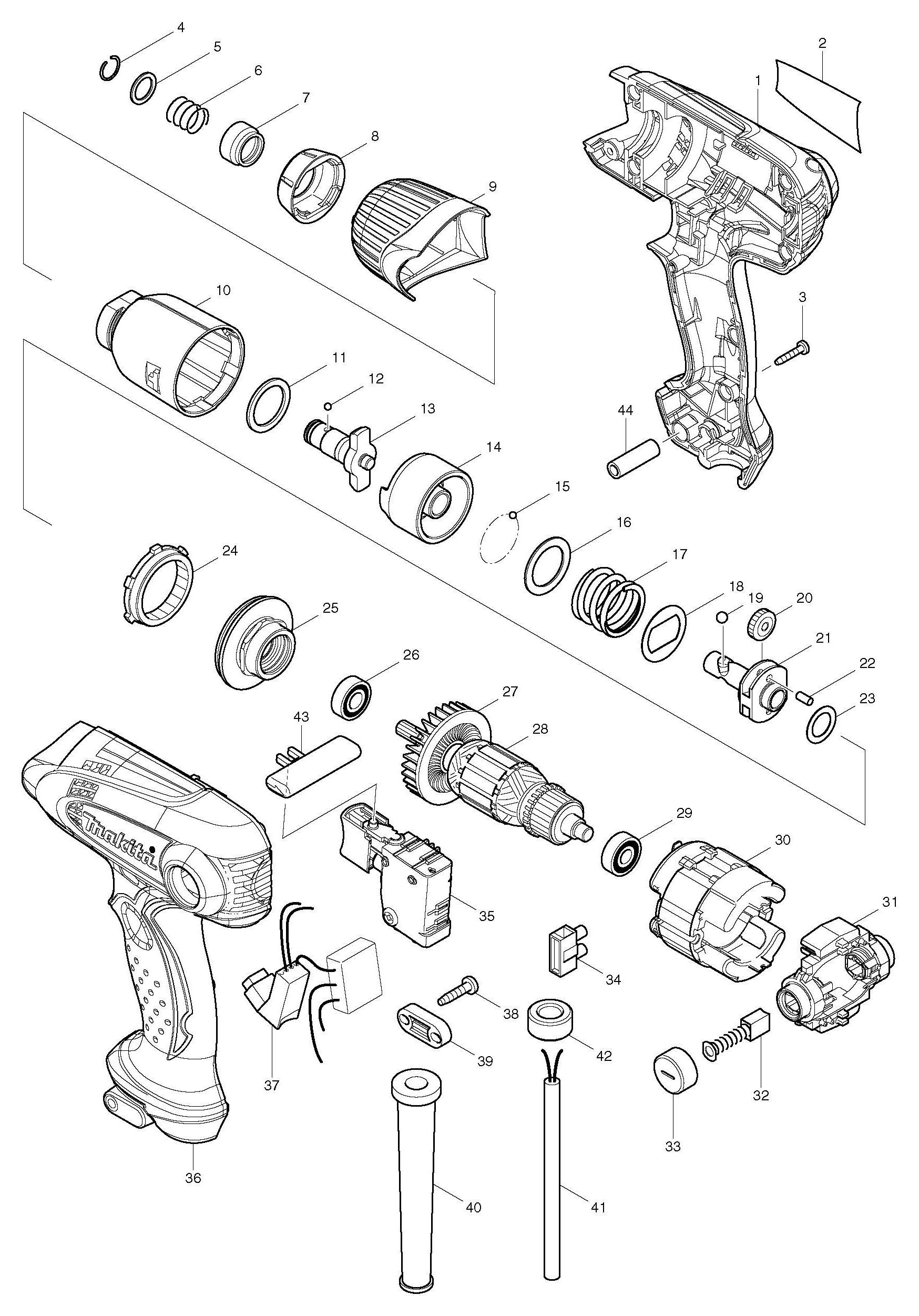 Spares For Makita Td F Impact Driver Spare Td F From