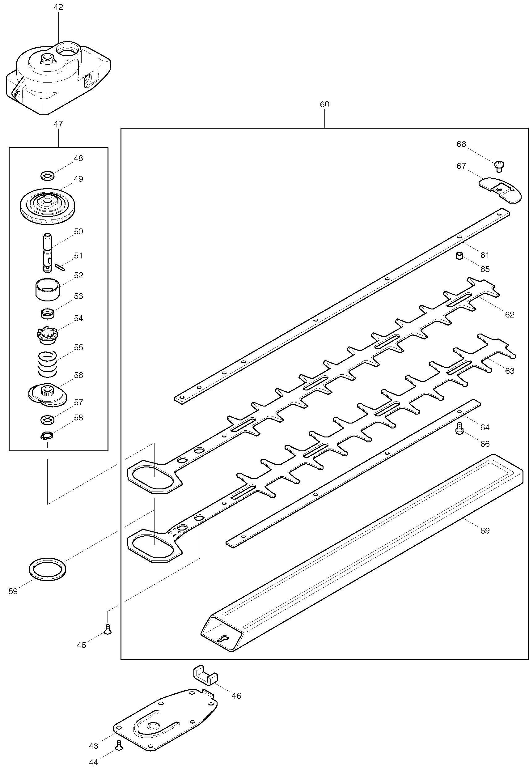 Spares For Makita Uh Electric Hedge Trimmers Spare