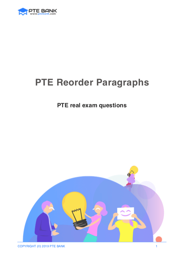 Reorder Paragraphs (August) | PTE Real Exam Questions