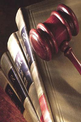 Gavel-lawbooks
