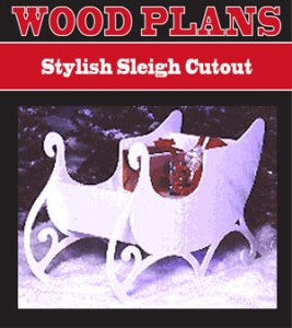 Holiday Yard Figure Plans Stylish Sleigh Cutout Woodworking Plan