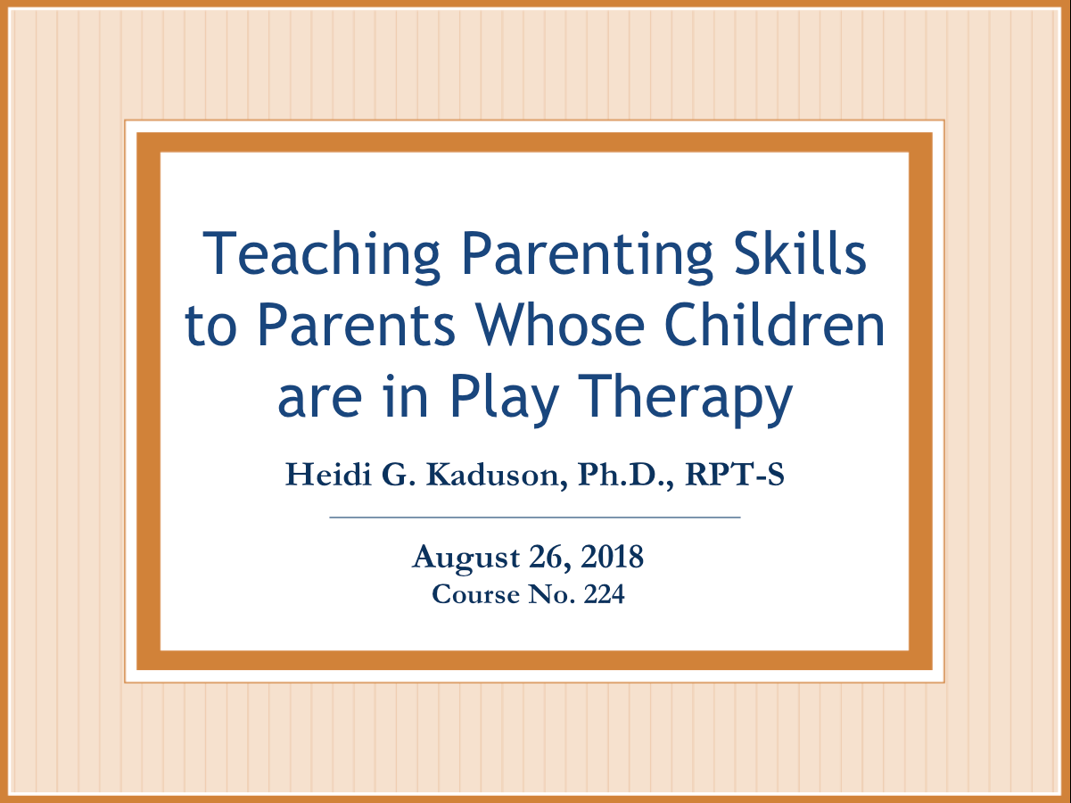 Teaching Parenting Skills To Parents Whose Children Are In