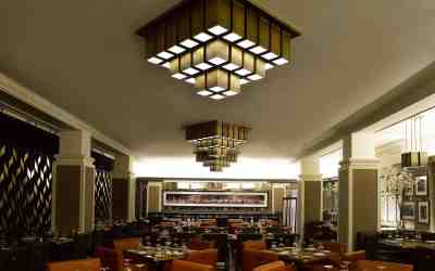 PTY Lighting's Custom Restaurant Lighting for American Cut Steakhouse Restaurant