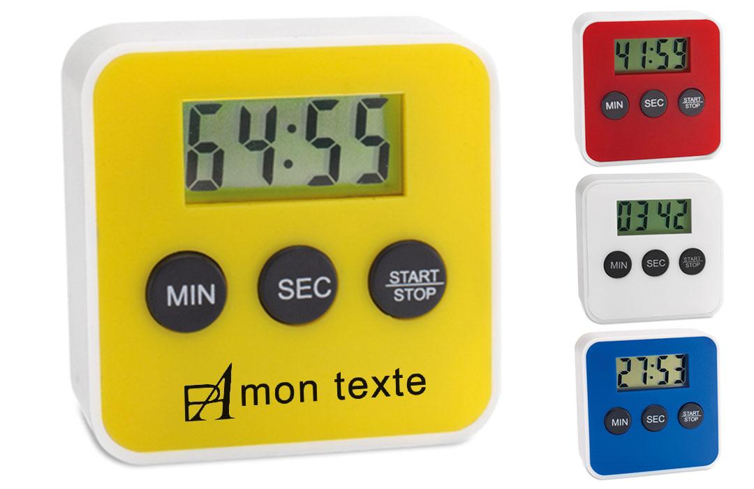 minuteur digital personnalisable pour cuisine