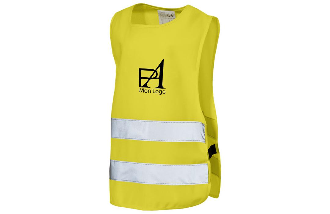 gilet jaune de sécurité personnalisé