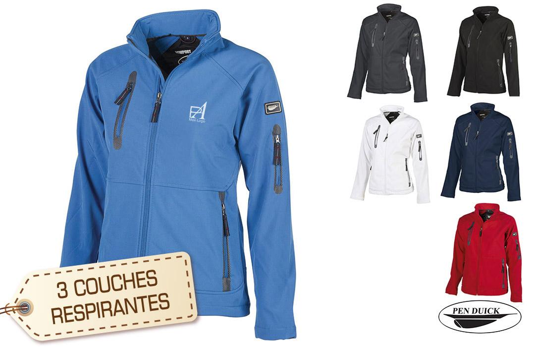 veste softshell personnalisée pour femme