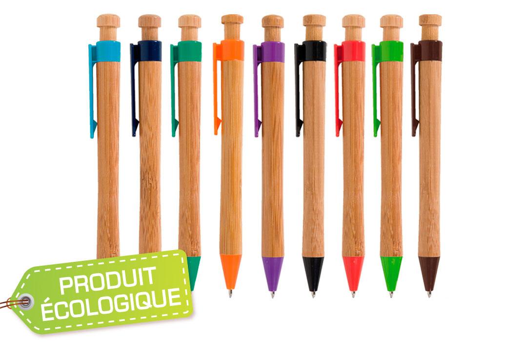 stylo personnalisé en bois
