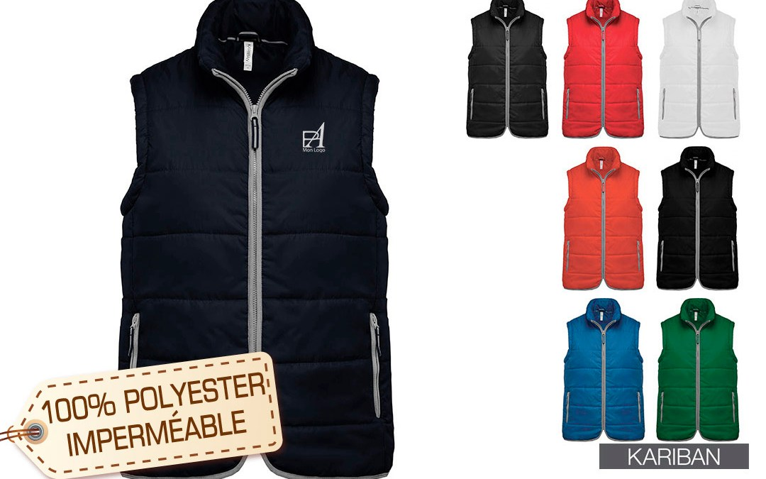 Bodywarmer personnalisé un cadeau textile professionnel
