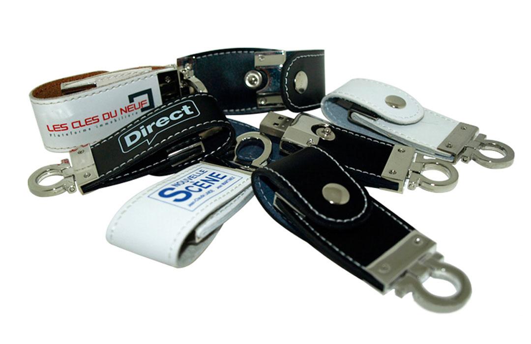 clé USB en cuir