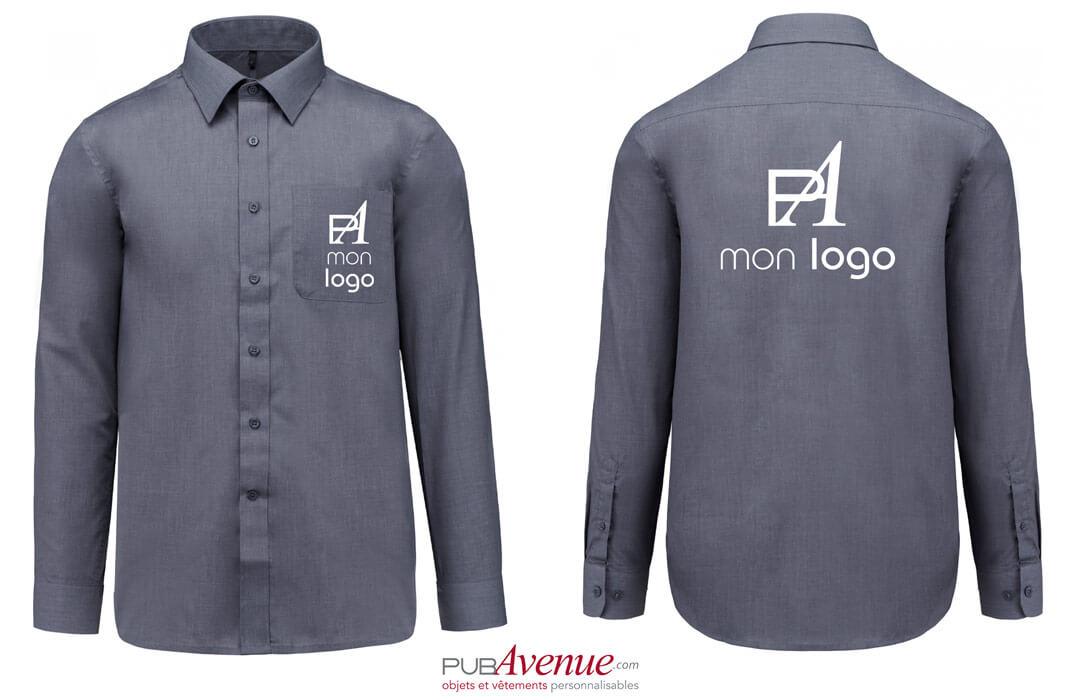 chemise personnalisée avec logo