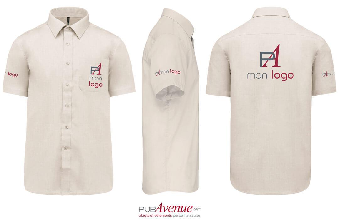 chemise personnalisée pour entreprise